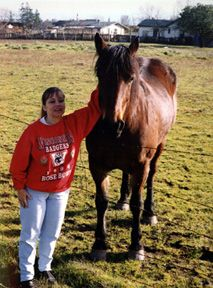 Spending time with hoofed friends. This was my horse, Epona, the Celtic Horse Goddess (she told me that!)