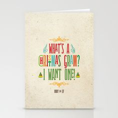 Buddy the Elf! What's a Christmas Gram? Stationery Card