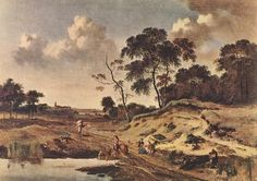 30 июня. Jan Wijnants (1632–1684  Dutch painter, draughtsman and ornamental painter Date of birth/death163223 January 1684 (buried)   TitleLandscape with Dune