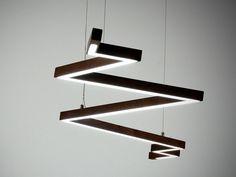 Lampadario in legno moderno 20