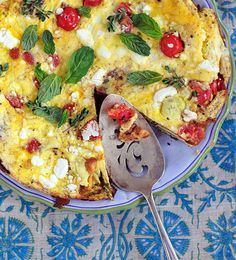 Sophie Dahl's Créspeou: stacked open-face omelettes, each with different vegetables. (And a pinch of saffron. YUM.)