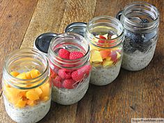 No Bake Dairy Free Sugar Free Overnight Oats | SugarFreeMom.com