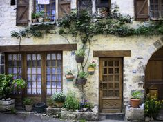 House Facade with Flowers in Lot Valley Photographic Print by Barbara Van Zanten European Summer, Space Architecture, Facade House, Cool Posters, Bricks, My Dream Home, Wall Murals, Building A House, House Plans