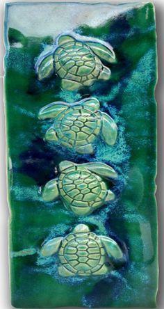 "Wall Art Turtles Design 8.5""x17.5"" MP19"