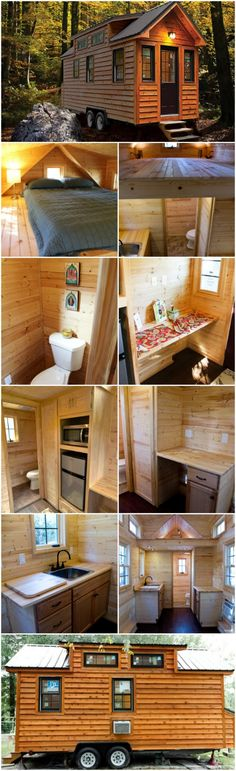"""Tiny Living by Tiny Home Builders is a Rustic Dream Come True - This tiny house is built by Tiny Home Builders out of Cumming, Georgia and it embodies everything we love about the Tiny House Movement. This is the """"Tiny Living"""" model from the builders and it comes in 12 foot, 16 foot, or 20-foot lengths."""