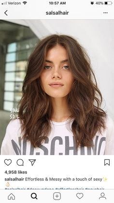 hair cuts Gorgeous hairstyles for medium long hair # hair # hair styles # long # beautiful Kitchen I Short Hair Cuts, Short Hair Styles, Medium Hair Styles With Layers, Mid Length Hair With Layers Wavy, Meduim Hair Cuts, Mid Length Hair Styles For Women, Styles For Thick Hair, Medium Hair Length Styles, Long Layered Haircuts
