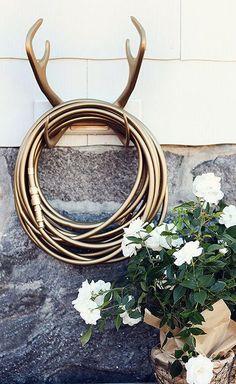 Gold garden hose // Garden Glory ... want!