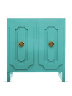 Dauphine Turquoise Armoire by Shine by S.H.O Studio at Gilt