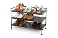 Neatly organize all of your shoes quickly and easily with this 3-tier, Multi-purpose, utility shoe rack.  The Seville classics shoe rack framework...