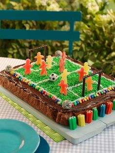 Soccer Birthday, Soccer Party, Cake Decorating Videos, Fondant Cakes, Good Food, Fun Food, Gingerbread, Recipies, Food And Drink