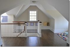 For the narrow space you face into at the top of the attic stairs.
