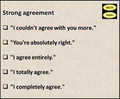 بیان موافقت شدید، کاملا موافق بودن با کسی یا چیزی در انگلیسی آموزش زبان انگلیسی در  تهران  تقویت مکالمه انگلیسی  آیلتس IELTS    تافل TOEFL    جی آر ای GRE    تلفن: ۰۹۱۹۴۲۳۱۹۵۴