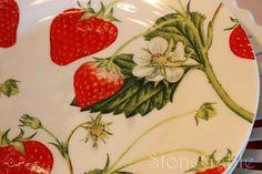 strawberry dinnerware | Found on stonegable.blogspot.com