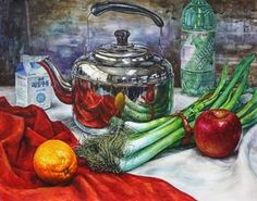 still life for watercolours paintings Still Life Drawing, Painting Still Life, Watercolor Landscape, Watercolor Paintings, Body Bones, Ap Art, Food Illustrations, Pretty Art, Art Sketchbook