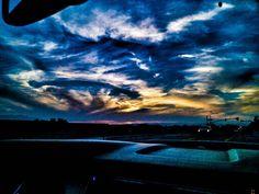 Sunset in Corona on 1-4-2014