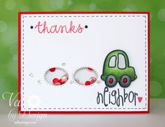 Thank You Card with Alley Way Stamps - ValByDesign #tawspinparty