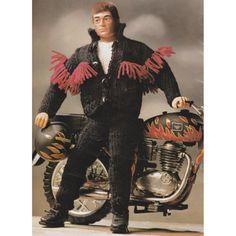 Vintage Action Man or Ken Dolls Knitting Pattern Biker Outfit Pattern on Etsy