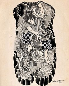 Traditional Tattoo Black And Grey, Traditional Japanese Tattoo Sleeve, Japanese Snake Tattoo, Tattoo Japanese Style, Traditional Tattoo Art, Japanese Dragon Tattoos, Japanese Sleeve Tattoos, Black And Grey Tattoos, Ink Tattoo Studio