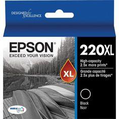 Epson DURABrite Ultra 220XL Black Ink Cartridge, (T220XL120-S), High Yield | Staples