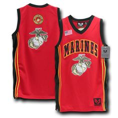 Rapdom Marine Corps Basketball Jersey, Red