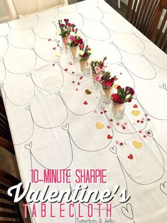 Sharpie Valentines Tablecloth We had such a fun time throwing our first annual GALantine's – valentinesdayideas. Valentines Day History, Valentines For Boys, Valentines Day Shirts, Valentines Day Party, Valentine Day Crafts, Vintage Valentines, Valentine's Day Quotes, Pick Up, Valentinstag Shirts