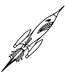 ROCKET WITH FACE CARTOON logo by  NBA Properties, Inc., a corporation organised and existing under the laws of the State of New York