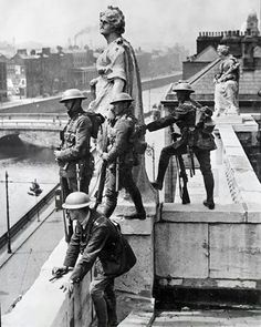 British troops during the War of Independance, Dublin, Ireland.