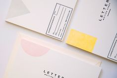 letter writing sheet / 42 pressed.