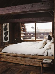 Wooden - bed.