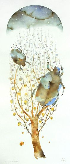 get attachment 4 Alexis Lagos Watercolors at Couturier Gallery.