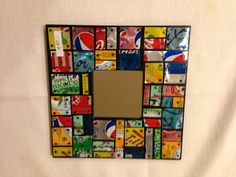 Mosaic Mirror Frame with Recycled Aluminum Cans by TamarDesigns, $20.00