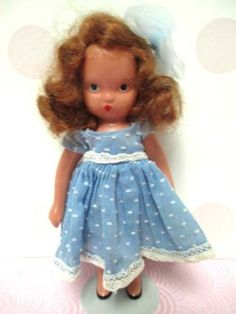 DARLING-BISQUE-NANCY-ANN-STORYBOOK-DOLL-5-1-2-034-DOTTED-SWISS-DRESS