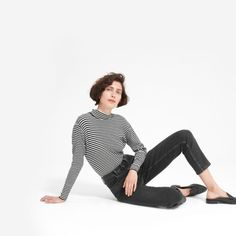 The Cheeky Straight Jean - Everlane (affiliate link) Modern Essentials, Sustainable Fashion, Most Beautiful, Denim, Cotton, Clothes, Shopping, Black, Denmark