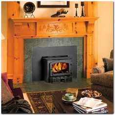 Wood Fireplace Insert, Woodstove Surround, Fireplace It S, Wood Burning Fireplace Inserts, Fireplace Remodel, Wood Burning Stoves, Fireplace Surrounds, ...
