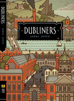 Dubliners book cover - art by Philip Cheaney