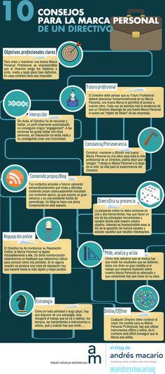 10 consejos para la Marca Personal de un directivo #infografia