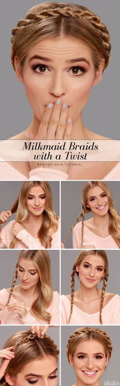 Milkmaid Braid Hair Styles with a Twist Hair Tutorial