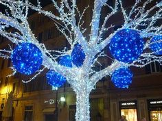 10 Best Blue Christmas Lights Images Christmas Time Christmas
