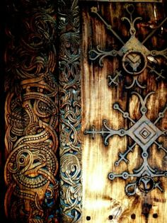 **Iron detail on old Norse door - use for the Longhouse?