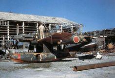 "Seaplane torpedo and dive-bomber Aichi M6A ""Seiran"" (clear sky storm)"