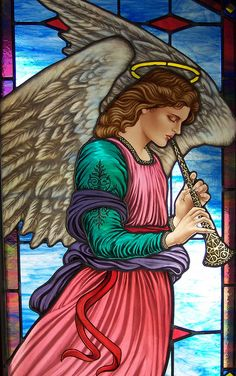 Stained glass Beautiful angel