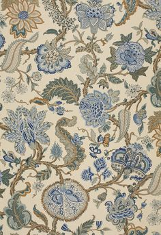 Fabric | Chalfont in Porcelain | Schumacher for the bed drapes?