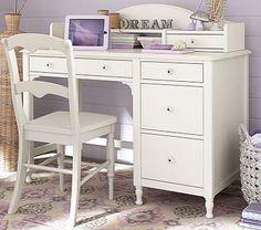 Juliette Storage Desk & Hutch #pbkids