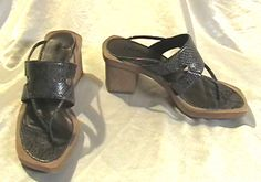 Nice casual fashion pumps! RARE CHOCOLATE BROWN SNAKE HIGH HEELS SANDALS SLIDES SIZE 7 SHOES REPTILE STRAPPY D'Antonio Open Toe SERPENT FOOTWEAR - on eBay! $5.98