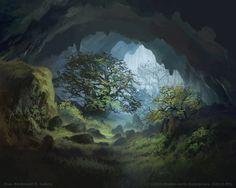 Secluded Cave by FerdinandLadera.deviantart.com on @DeviantArt