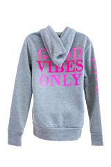 Good Vibes Zip Hoodie Fleece Lined Jacket