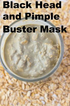 Use this blackhead buster mask for pimples and oily skin Black Head Buster Face Mask Recipe: ½ cup oats 2 tbsps. bentonite clay ½ cup water (more may be needed) 2 drops peppermint oil (optional) Pimple Mask, Face Mask For Pimples, Blackhead Mask, Face Masks, Beauty Care, Beauty Skin, Diy Beauty, Facial Care, Spa Facial