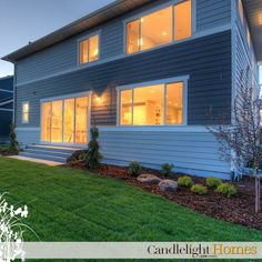 www.CandlelightHomes.com, utah, homebuilder, exterior, home, two-tone paint, exterior paint, hardie board, windows, lighting, home, new home, interior lighting, landscape, landscaping, backyard, Candlelight Homes