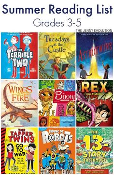 Elementary Summer Reading List (Grade 3, Grade 4 & Grade 5)