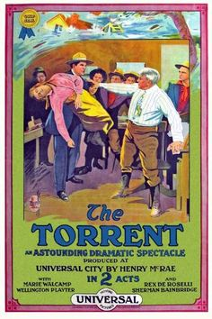 Theatrical poster for the 1915 silent film The Torrent.